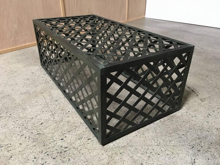 20th Century Metal Trellis Bench For Sale At 1stdibs