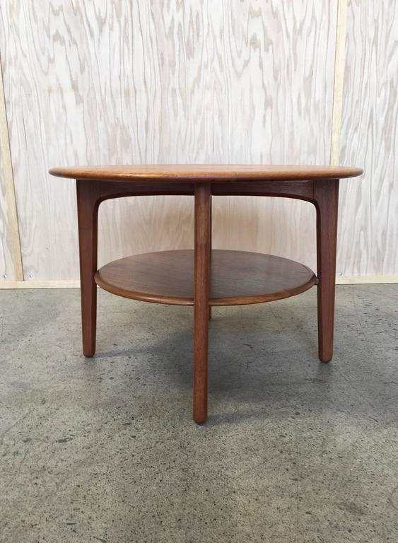 Round Danish Modern Teak Side Table For Sale At 1stdibs