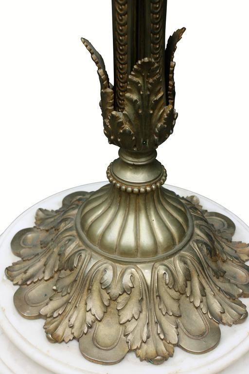 Monumental Floor Lamp, Torchere, Alabaster and Bronze, France, circa 1900s For Sale 1