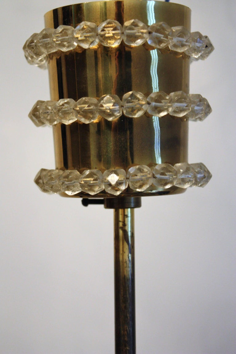 Mid-20th Century Elegant Brass and Crystal Chandelier attr. to Bakalowits, Austria, circa 1960s For Sale