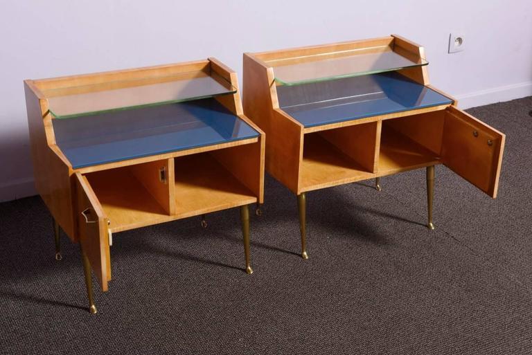 Pair of 1950s Nightstands In Excellent Condition For Sale In Zaventem, Belgium