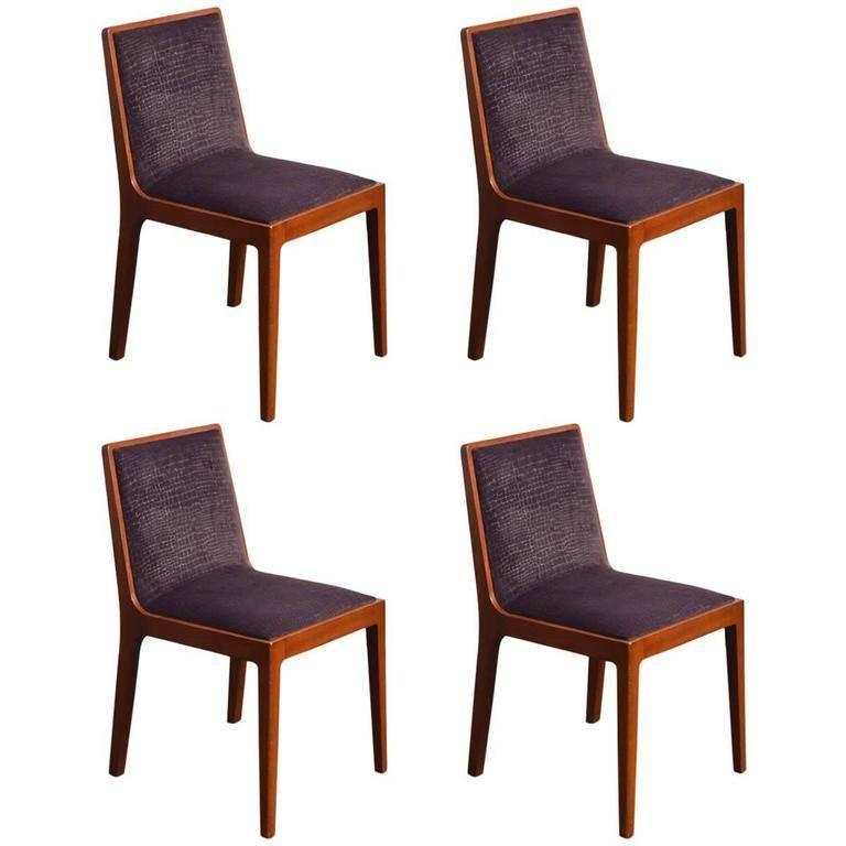 Set of Four 1950s Chairs