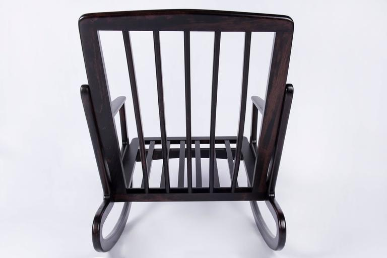 Mid-Century Modern Italian Rocking Chair In Excellent Condition For Sale In Zaventem, Belgium