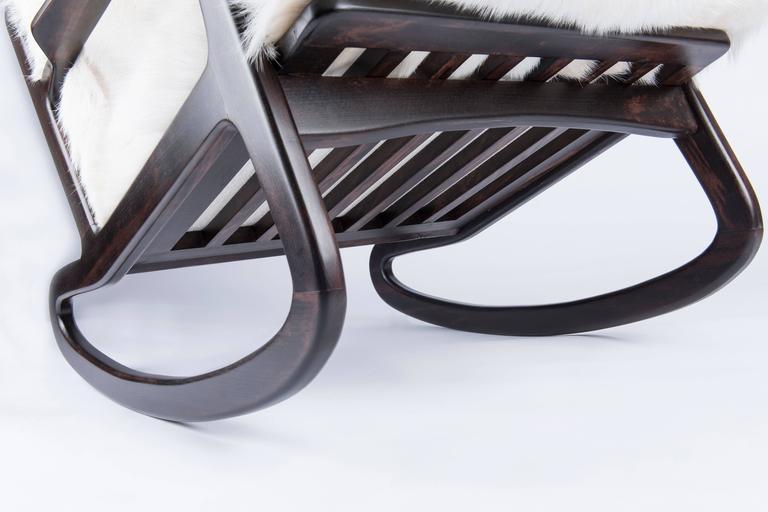Mid-Century Modern Italian Rocking Chair For Sale 2
