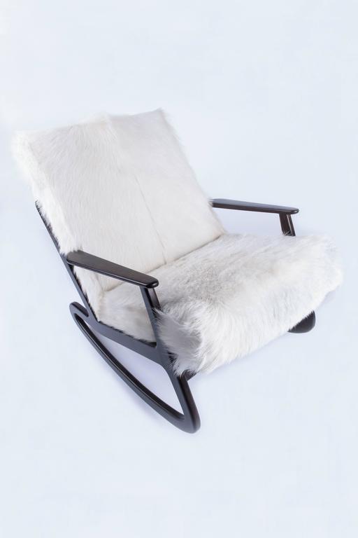 Mid-Century Modern Italian Rocking Chair For Sale 3