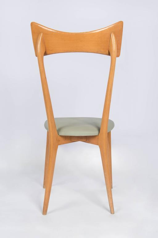 Italian Set of Six Ico Parisi Dining Chairs For Sale
