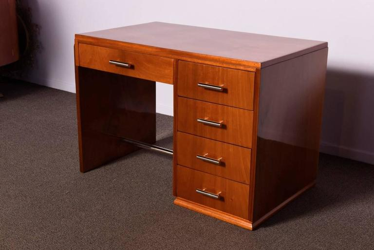 Art Deco Mahogany Desk For Sale 2
