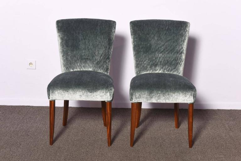 French Set of Three Art Deco Chairs For Sale