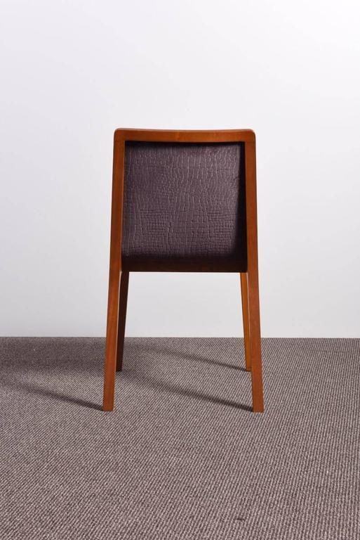 Mid-Century Modern Set of Four 1950s Chairs For Sale