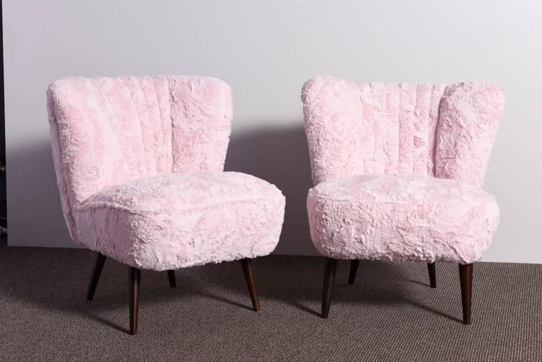 Faux Fur Cocktail Chairs At 1stdibs