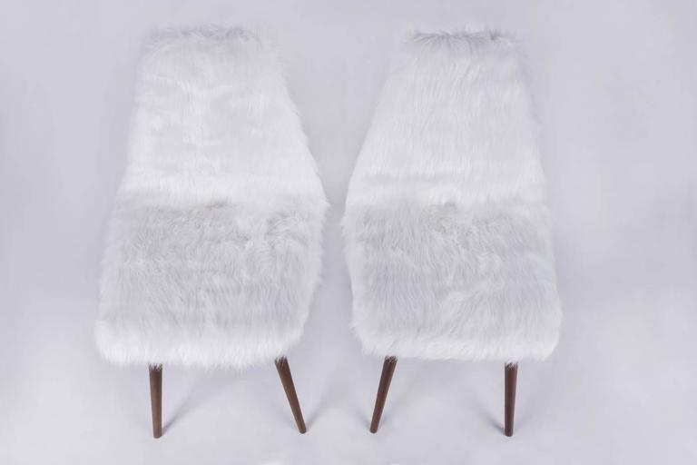 Hungarian Pair of Erika Chairs from Judit Burian For Sale