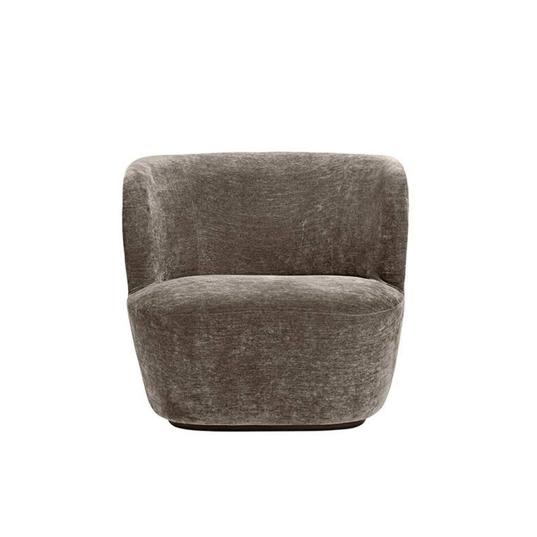 Danish Contemporary Stay Lounge Chair in Cotton Velvet with an Optional Swivel For Sale