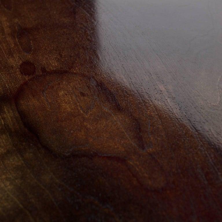 Elegantly Styled Modern Mahogany Veneer and Brass Writing Desk 1