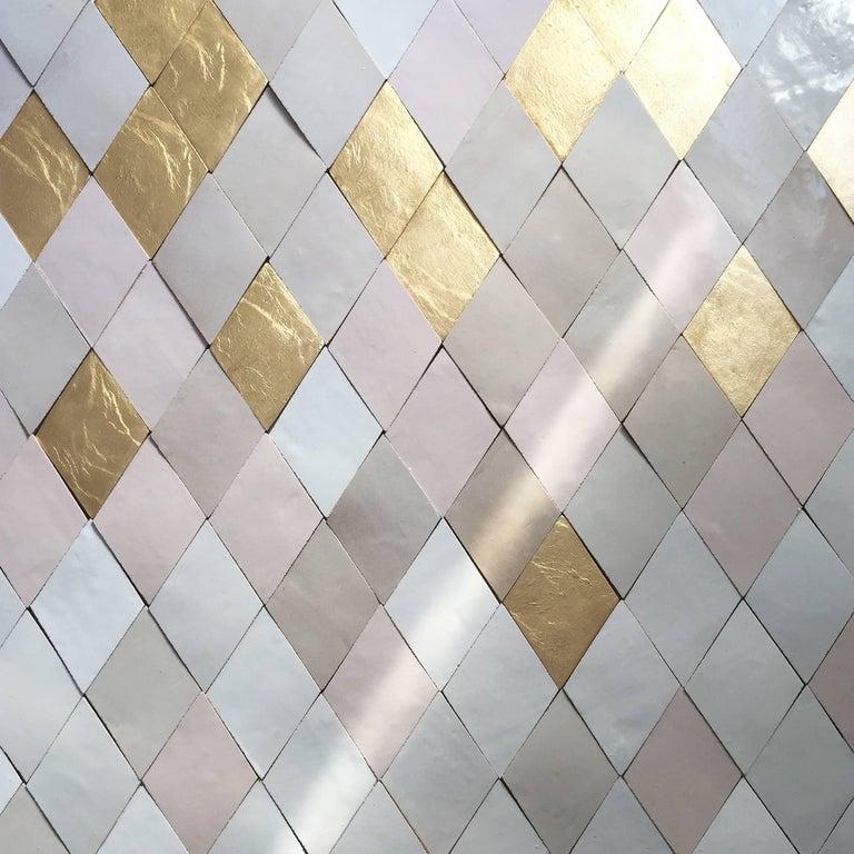Diamond Handcrafted Glazed Bespoke Ceramic Tiles By Studio Sors For