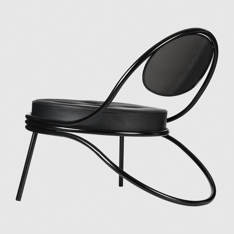 The Copacabana lounge chair was created in 1950 by Mathieu Matégot. The low Copacabana lounge chair has the impression of being designed with a single pencil stroke and the elegance of the chair resides in the continuous force of the line. It is
