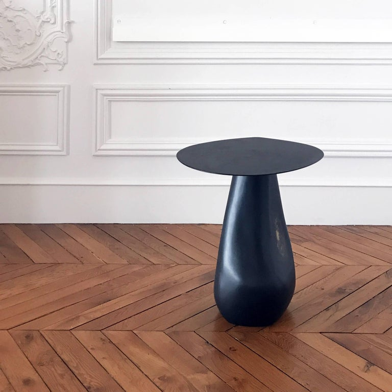 Hand Sculpted from Bronze, Brass, and Steel Dionis Side Table 2
