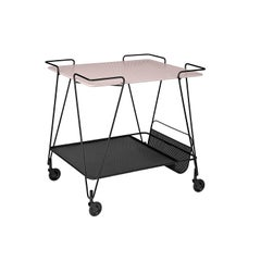 Mid-Century Mathieu Matégot Metal Trolley with Two Trays, In Stock