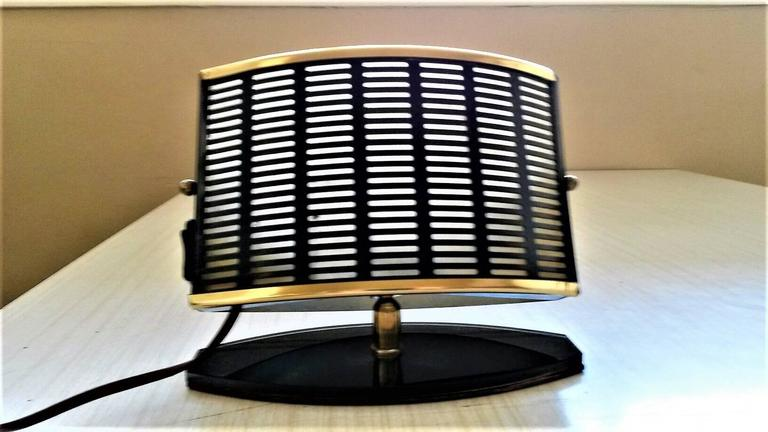 Pair of French Mid-Century Modern table side lamps.
