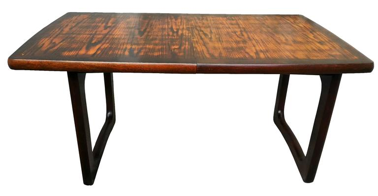 Large french mahogany mid century extendable dining or for Tejas dining room at t conference center