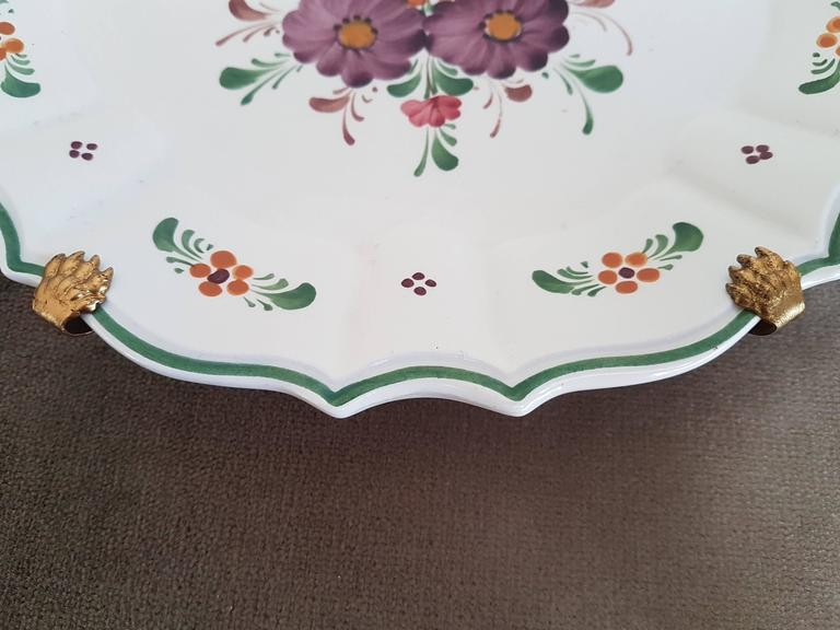Set Of Three Countryside Hand Painted Decorative Floral