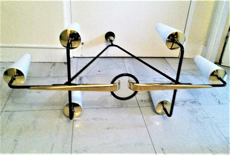 Gorgeous French Mid-Century Modern Lunel Chandelier, Large Size 5