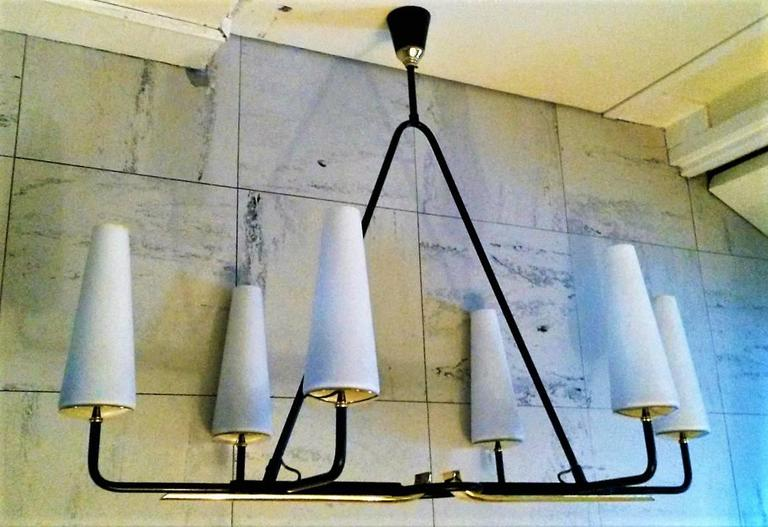 Gorgeous French Mid-Century Modern Lunel Chandelier, Large Size 9