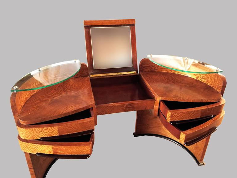 french art deco coiffeuse vanity dressing table 1930s for sale at 1stdibs. Black Bedroom Furniture Sets. Home Design Ideas