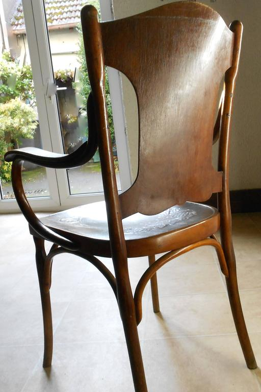 Austrian Art Nouveau Rare Set of Stamped Bentwood Kohn Armchairs, Vienna, 1900 For Sale