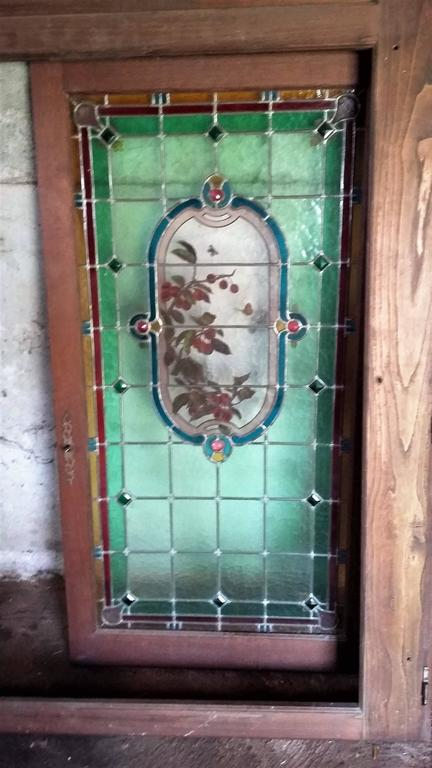 Pair of French Provincial Stained Glass Windows,  France 1910 For Sale 2