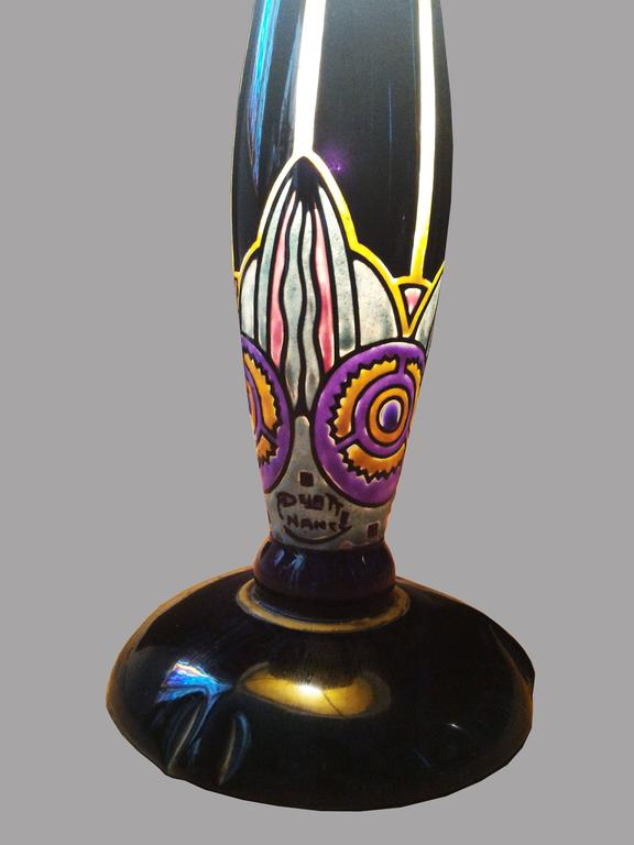 Fabulous French Art Nouveau Table Lamp Signed Delatte, Ecole de Nancy 8