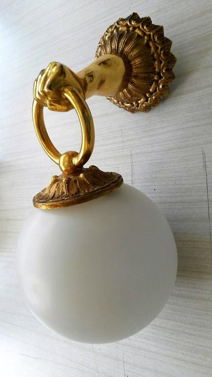 2 Pairs of  Neoclassical French Gilt Bronze  Sconces In Excellent Condition For Sale In Paris, FR
