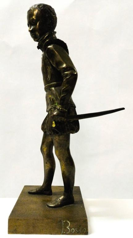 Napoleon III Bronze Sculpture of Young Henri IV by Bosio, France, 19th Century For Sale