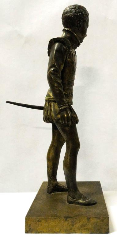 Bronze Sculpture of Young Henri IV by Bosio, France, 19th Century In Excellent Condition For Sale In Paris, FR