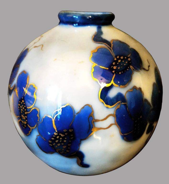 Beautiful 20th Century Camille Tharaudl Ball Vase In Limoges