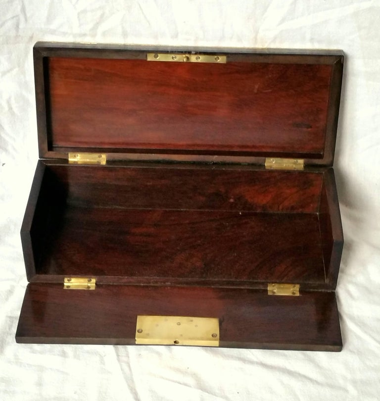 19th Century Napoleon III Boulle Marquetry Bronze Tortoiseshell Jewel Gloves Box, France For Sale