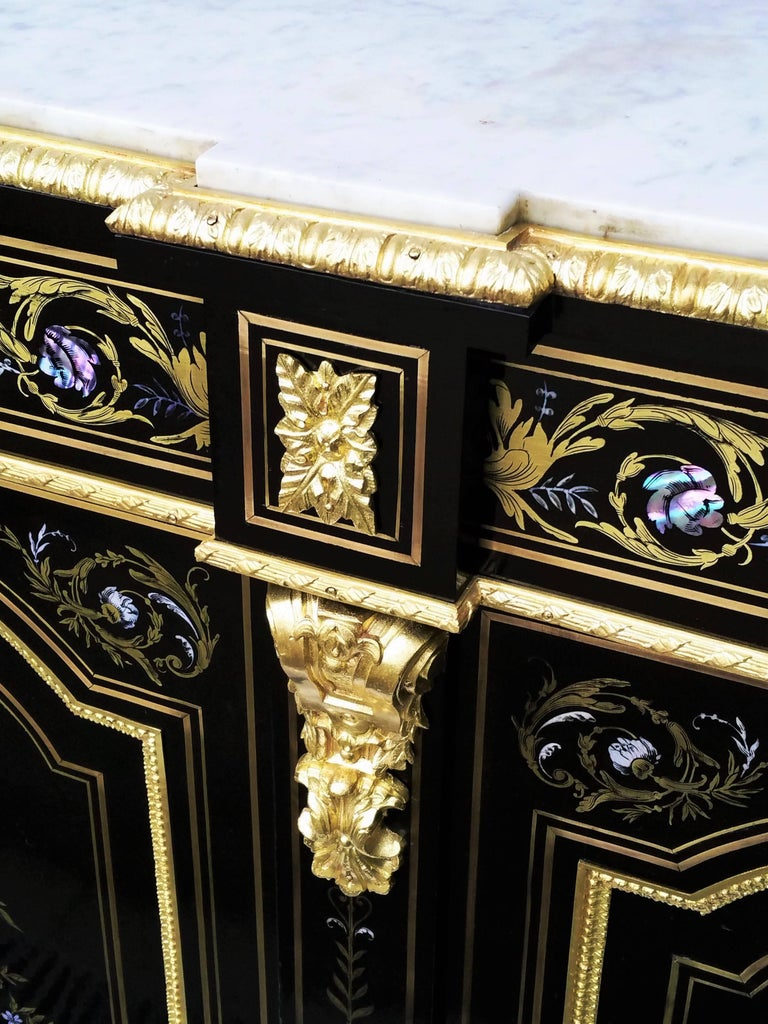 Napoleon III Cabinet Buffet Cabinet Boulle Style, France, 1875 In Excellent Condition For Sale In Paris, FR