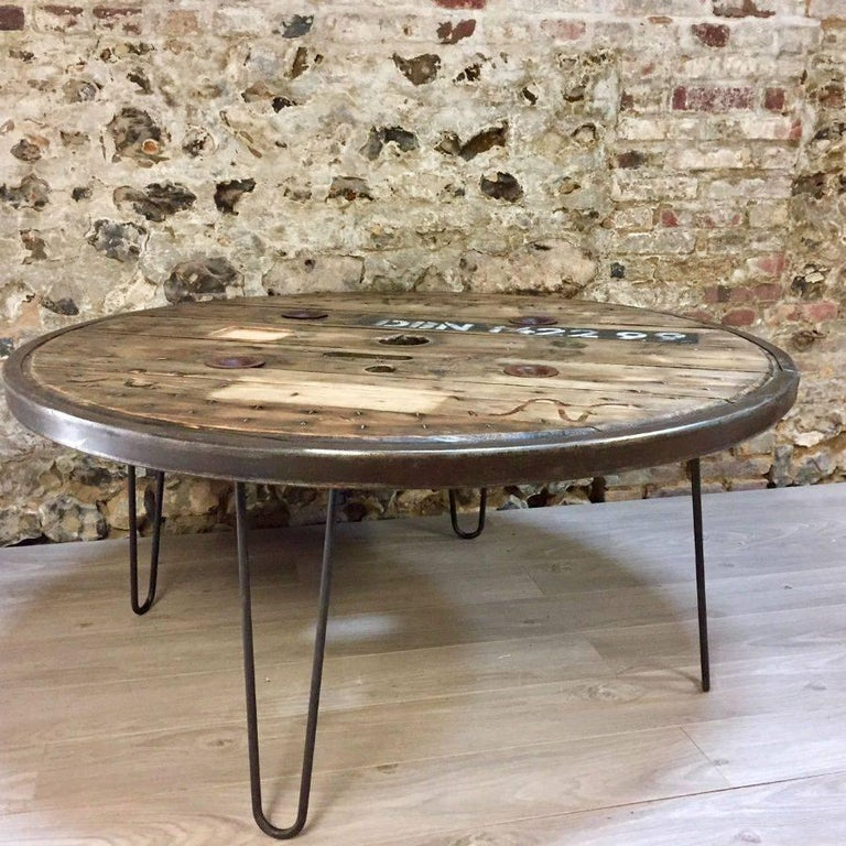 french industrial dinner working or center table for sale at 1stdibs. Black Bedroom Furniture Sets. Home Design Ideas