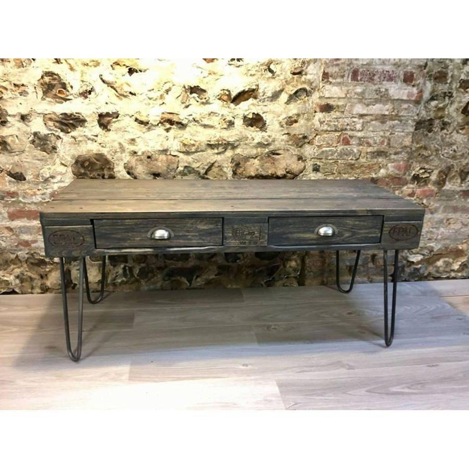 Industriel Table Basse Palette french industrial table at 1stdibs