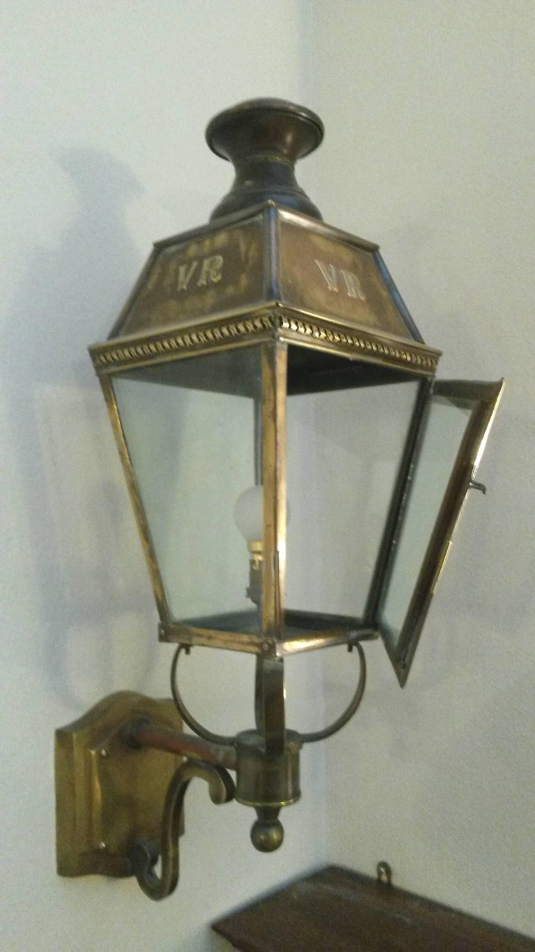 Pair of large 19th Century English Lanterns style Wall Lights ...