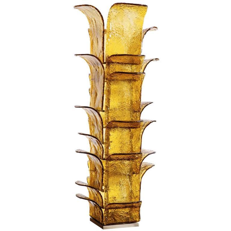 Extra Large Mazzega Floor Lamp, Murano by Carlo Nason