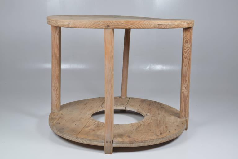 Spanish Rustique Pine Side Table For Sale At 1stdibs