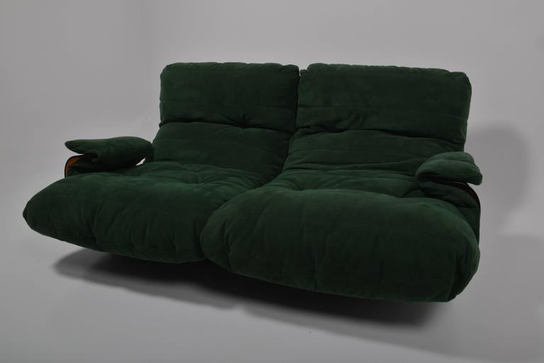Green Buckskin Marsala Sofa by Ligne Roset For Sale 5