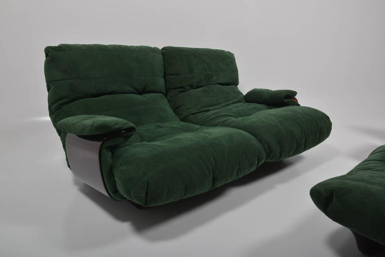 Green Buckskin Marsala Sofa by Ligne Roset In Good Condition For Sale In Sint-Kruis, BE