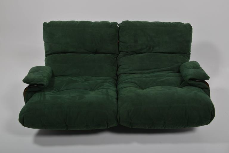 Green Buckskin Marsala Sofa by Ligne Roset For Sale 1