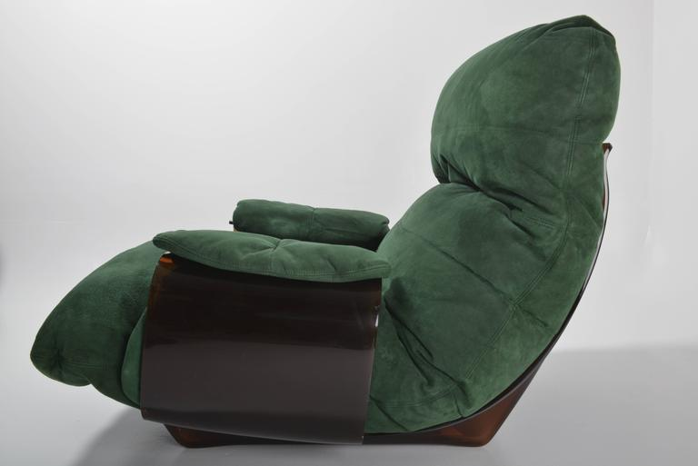 Late 20th Century Green Buckskin Marsala Sofa by Ligne Roset For Sale
