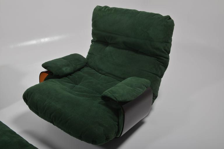 Green Buckskin Marsala Sofa by Ligne Roset For Sale 3