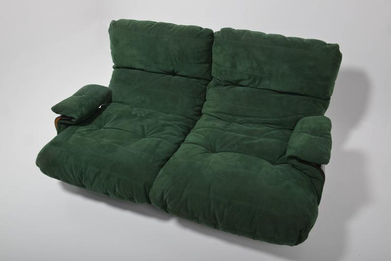 Green Buckskin Marsala Sofa by Ligne Roset For Sale 2