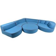 Comporta Modular Foam Sofa, Belgian Flat-Woven Wool