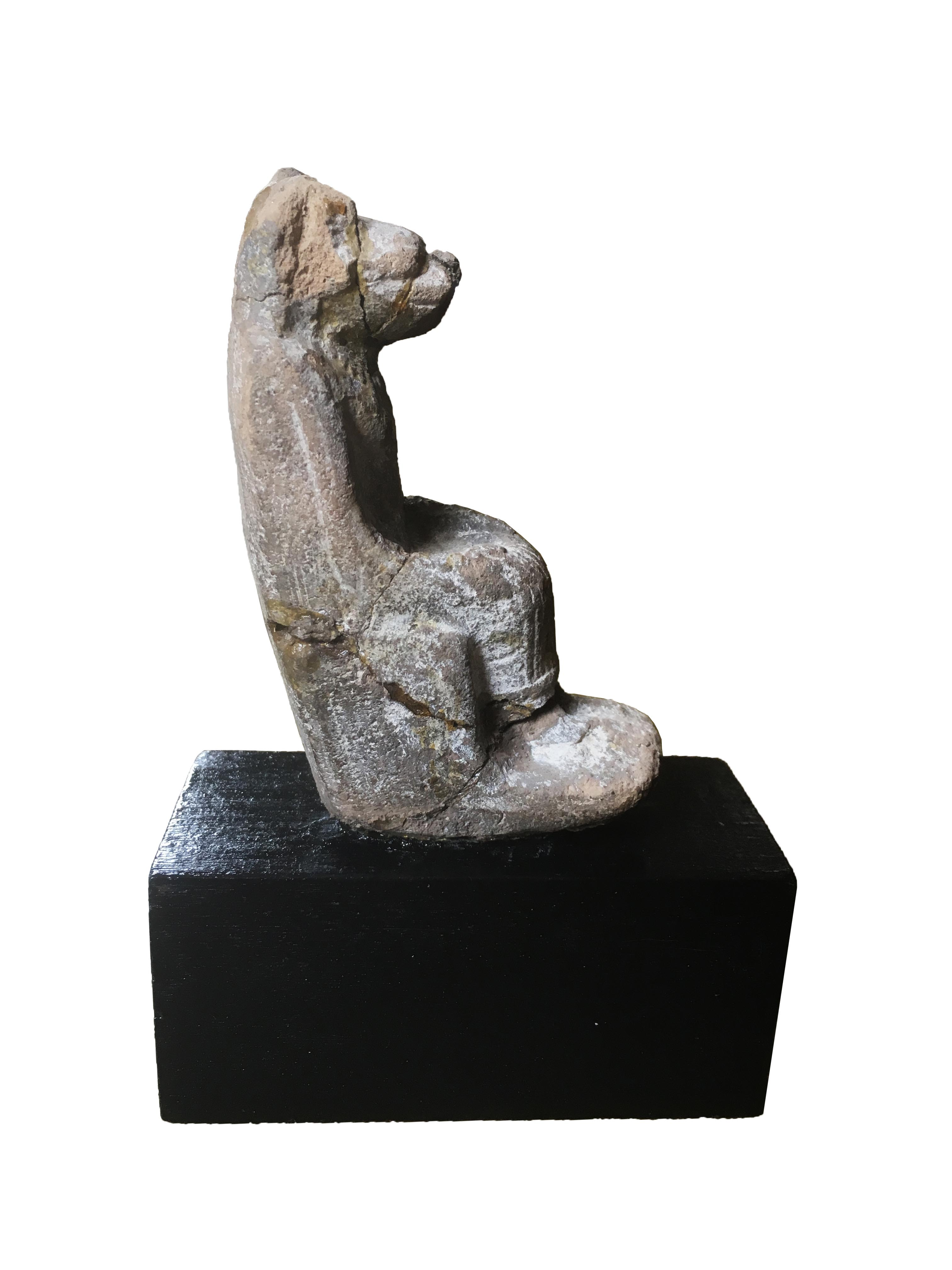 Ancient Egyptian Clay Statue Of The Lion Goddess Sekhmet Enthroned For Sale  At 1stdibs