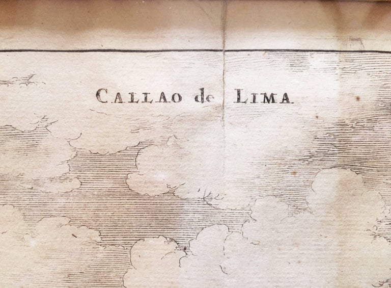Copperplate Engraving of the Port of Lima from 1671 by Jacob van Meurs In Good Condition For Sale In Brooklyn, NY